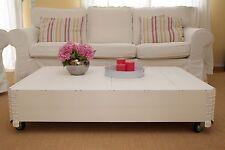 Couchtisch Beistelltisch weiß Holz massiv shabby chic vintage Wohnzimmertisc