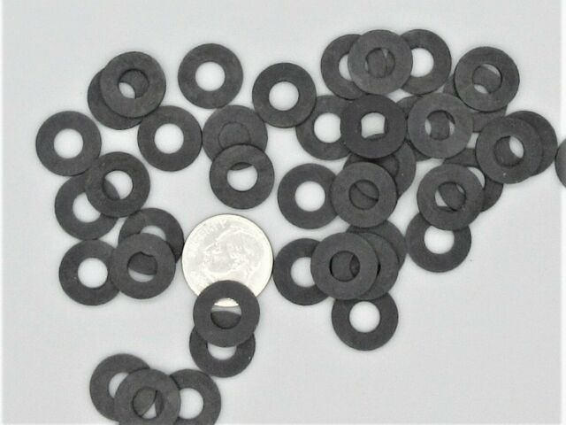 50 black rubber washer 12mm OD x 5mm ID x .6mm thick