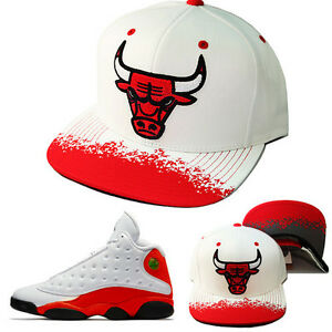 Mitchell & Ness NBA Chicago Bulls Snapback Hat Air Jordan Retro 13 True Red Cap