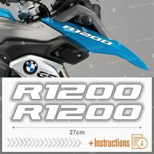 2pcs-Adesivi-Bianco-compatibile-Moto-BMW-R-1200-GS-LC-R1200-ADVENTURE-R1200GS