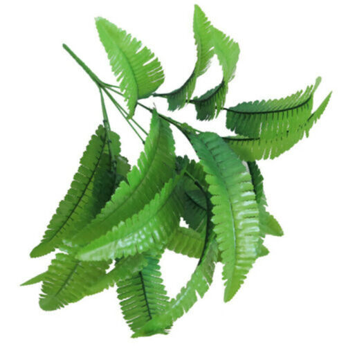 21 Leaves Artificial Flowers Persian Fern 7 Fork Fake Plants Wedding Home Decor