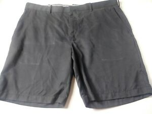 Jack-Nicklaus-Mens-Golf-Shorts-Size-42-Black-Flat-Front-100-Polyester