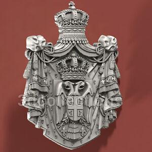 Serbian-Coat-of-Arms-3d-stl-model-for-cnc-router-artcam-aspire-cut3d-vcarve-pro