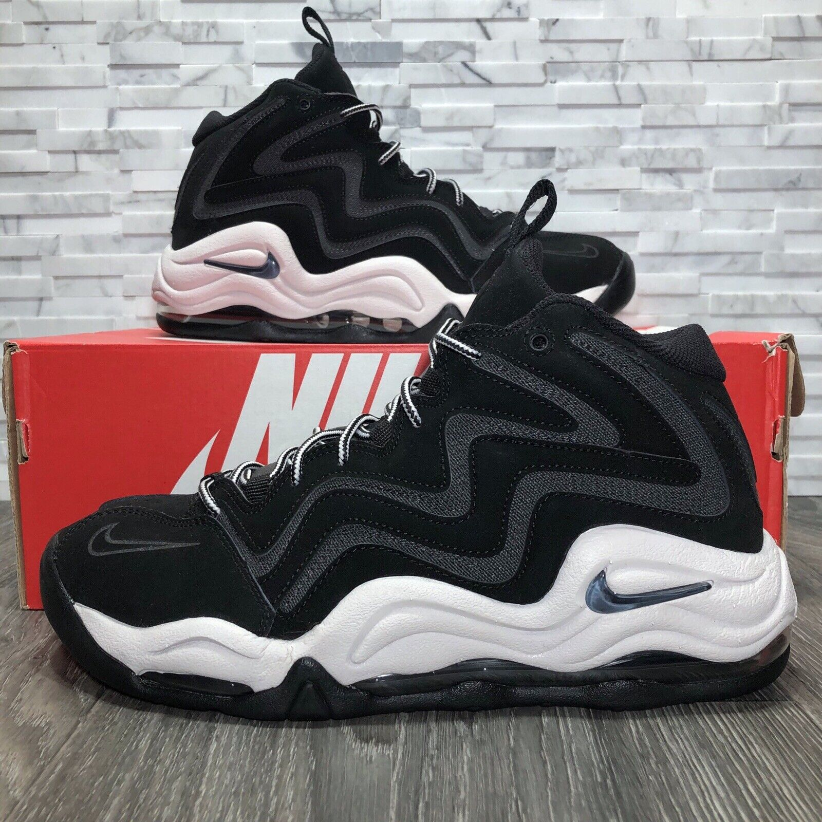 info for 5f4ae bfce3 Nike Air Pippen Black   Anthracite (325001-004) Basketball shoes shoes  shoes Mens