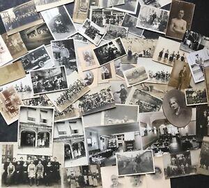 Lot-de-60-photographies-Noir-et-Blanc-vintage-scenes-de-vie-portrait