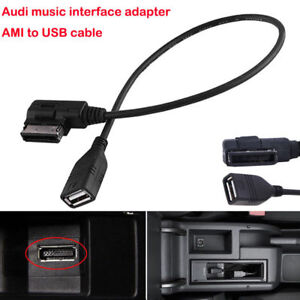 Awaqi Replacement 5ft AUX Cable AMI Music Interface Adapter Cable Compatible with iX i8 i7 for Audi 2010-2014 Models Aux Audio Adapter Audi Music Adapter