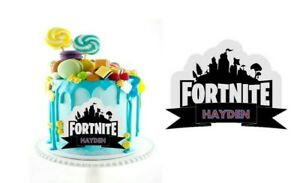 FORTNITE LOGO PERSONALISED CAKE TOPPER EDIBLE IMAGE PRE-CUT ICING SHEETS
