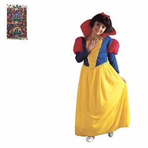 Widmann Set Costume Biancaneve e Busta Coriandoli Vestito Carnevale Bimba