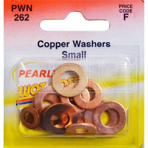 Assorted Small Wot-Nots Copper Washers - Pack of 15 PWN262
