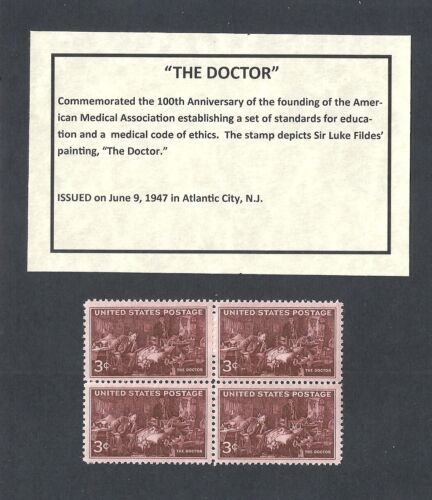 US Block of 4 with Informational Card Doctors 949