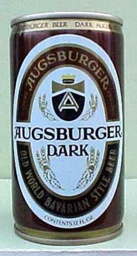 Monroe AUGSBURGER DARK BEER cs Pull Tab Top Can WISCONSIN 1983 Grade 1+ Huber