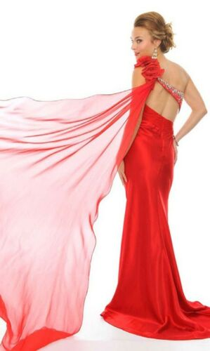 ec9562eb271 ... Precious Formals style 20903 Red Size 4 -Prom-Military Ball-Home coming