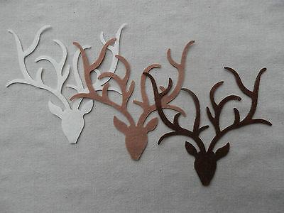 FELT Christmas Reindeer STAG Head Die Cuts Decorations Bunting Appliques VARIOUS