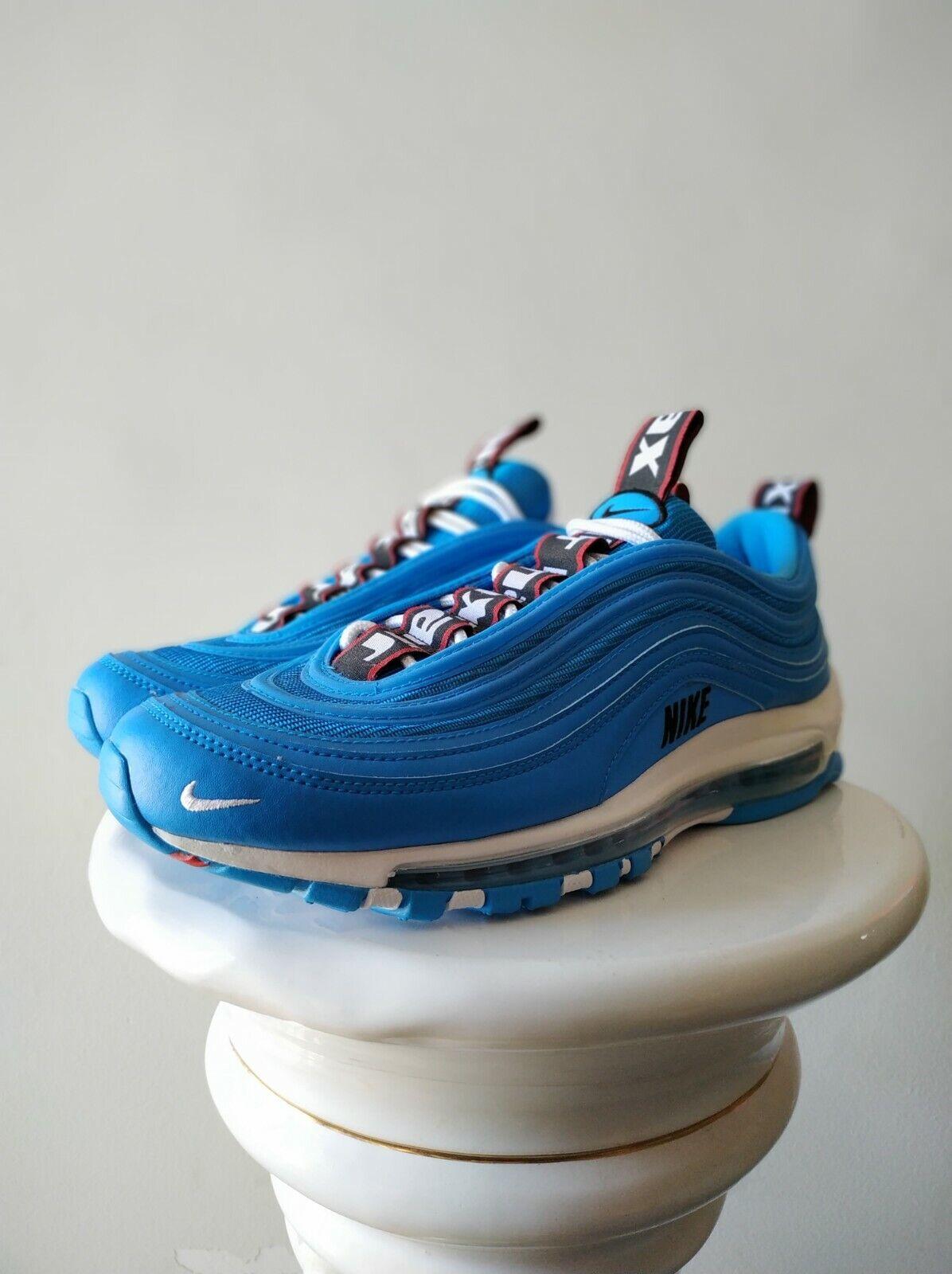 Nike Air Max 97 Bleu Premium Hero Noir Blanc 312834-401 US 8.5 EU 42 UK 7.5