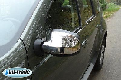Dacia Duster ab 2012 Sandero Logan MCV ab 2008 Chrom Spiegel Kappen Edelstahl