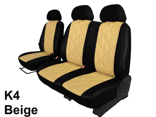 VAUXHALL VIVARO 2001-2014 ECO LEATHER SEAT COVERS EMBOSSED MADE TO MEASURE