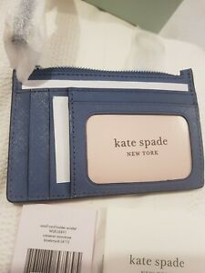 KATE SPADE SMALL WRISTLET CARD HOLDER CAMERON MONOTONE NEW €79