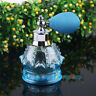 Blue Vintage Crystal Perfume Bottle Spray Atomizer Glass Bottle Lady Gift 80ml