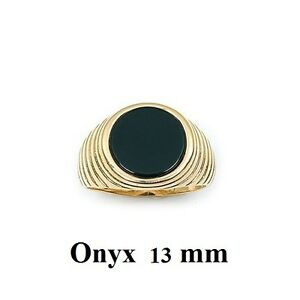 Dolly-Bijoux-Chevaliere-T64-Lapide-Onyx-13-mm-Plaque-Or-18K-Lamine-5-Microns