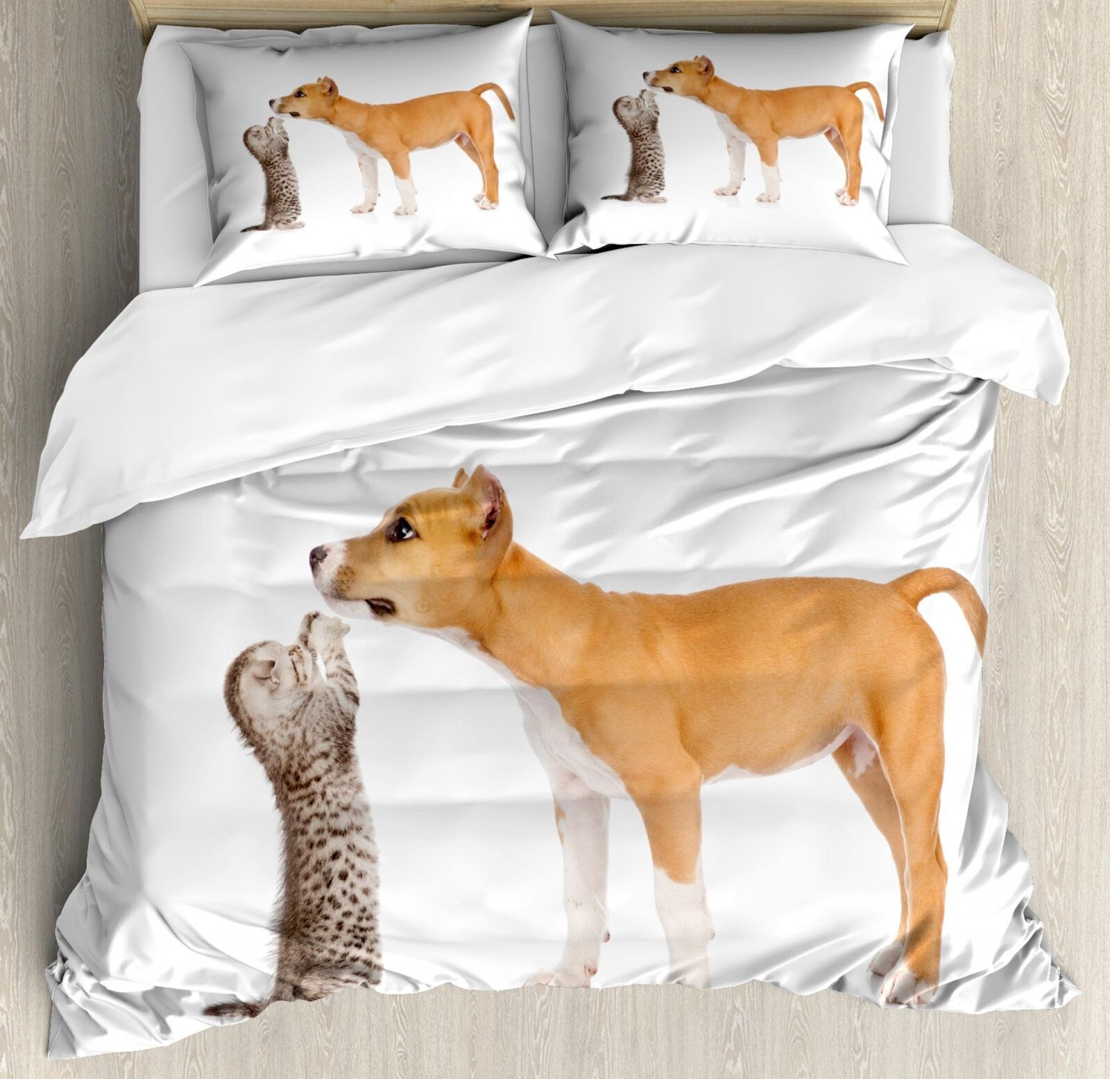 Pitbull Duvet Cover Set Twin Queen King Größes with Pillow Shams Ambesonne