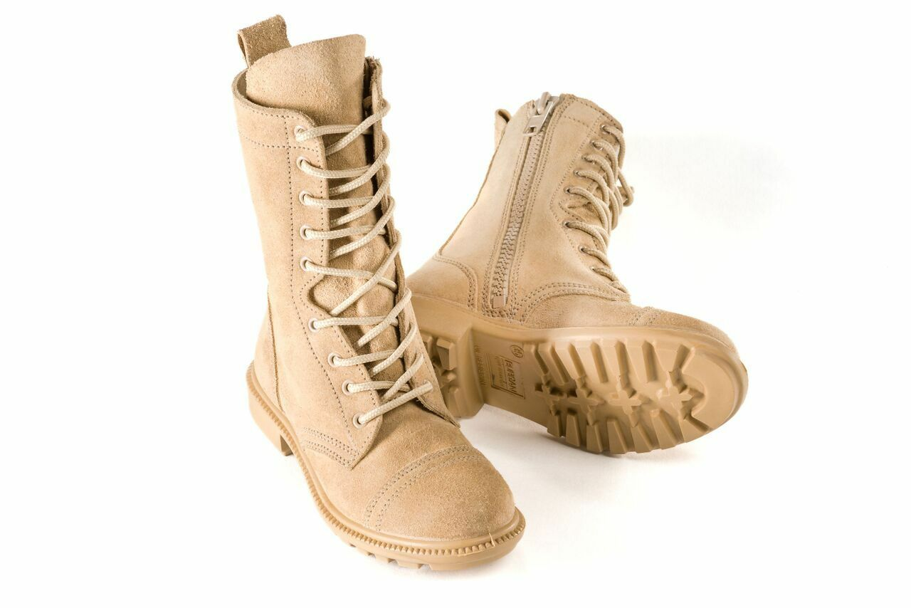 BURGAN 832 Desert Combat Boot - All Leather with Side Zip