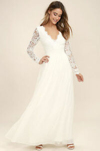 Langarm Brautkleid Hochzeitskleid Spitze Kleid V ...