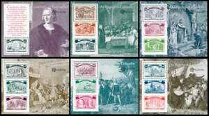 PORTUGAL-Voyages-of-Columbus-Set-of-6-Souv-Sheets-MNH-1918-1923-Mint-Complete