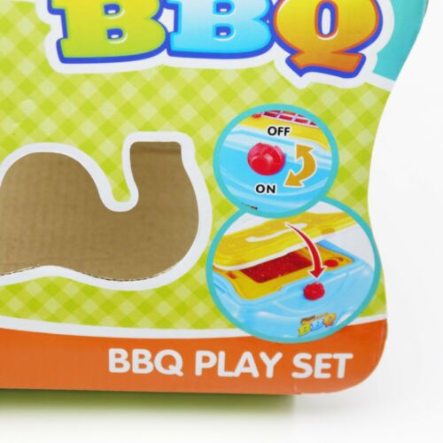 Kids Pretend Role Play BBQ Cooking Toy Set  Playset Chair Children Gift Blue