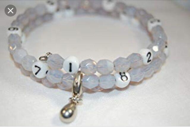 Breastfeeding Nursing Reminder Feeding Log Bead Bracelet New Mom Shower Gift