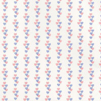Dolls House 'sweethearts' Wallpaper - Pink & Blue Hearts Design : In12th Scale