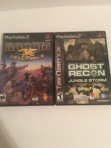 Lot-Of-PS2-Games-Socom-Us-Navy-Seale-And-Ghost-Recon-Jungle-Storm-Complete-CIB