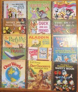 Vintage-1950s-60s-Little-Golden-Books-x-15-Australian-editions-RARE-Golden-Press