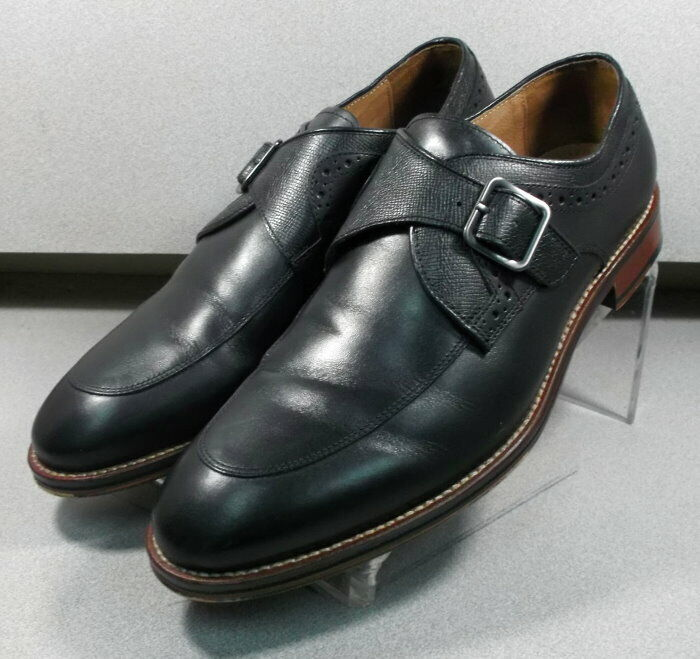 203891 WT50 Men's Shoes Size 10.5 M Black Leather Johnston Murphy Walk Test