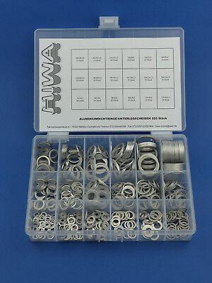525 X Anelli Alluminio Alluminio Assortimento Anelli Di Tenuta Rondelle Box- Elegante Nell'Odore
