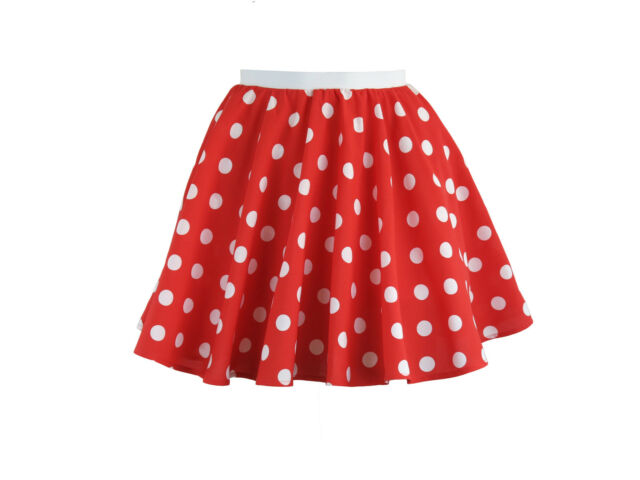 497f3fa18fdc0 Childs Rock and Roll 50s Fancy Dress Grease Costume Polka Dot Skirt ...