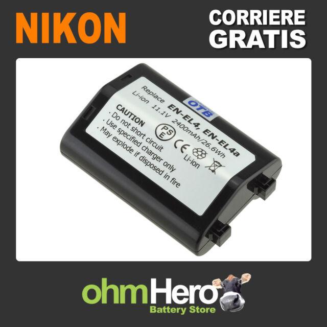 Batteria Alta Qualità SOSTITUISCE Nikon ENEL4, EN-EL4, ENEL4A, EN-EL4A