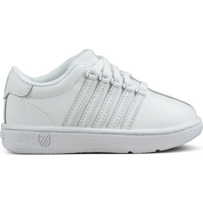 K swiss Classic VN White White Toddlers Size 4 to 10 New N Box 23343 912