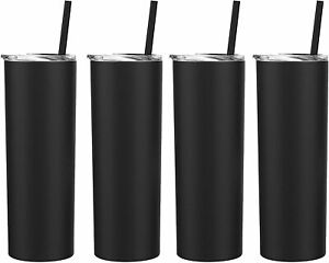 20-Oz-Skinny-Double-Wall-Stainless-Steel-Tumbler-4-Pack-With-Straws