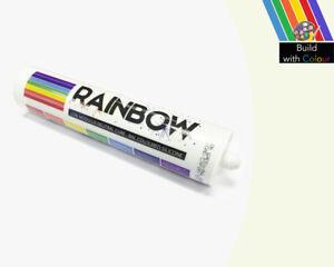 grigio-colore-bianco-Silicon-SIGILLANTE-RAINBOW-310ML-RAL-9002-INTERNO-amp-uso