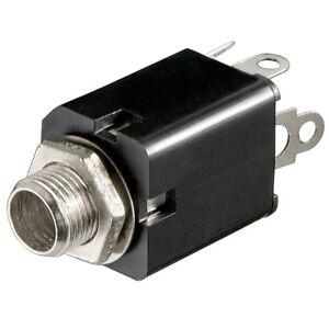 6-3mm-Stereo-Klinke-Buchse-zum-Einbau-Einbaubuchse-fuer-z-B-Mikrofon-Kopfhoerer