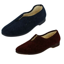 Ladylove /'4Way/' Ladies Rose Colour Fold Over Faux Fur fleese Slippers.