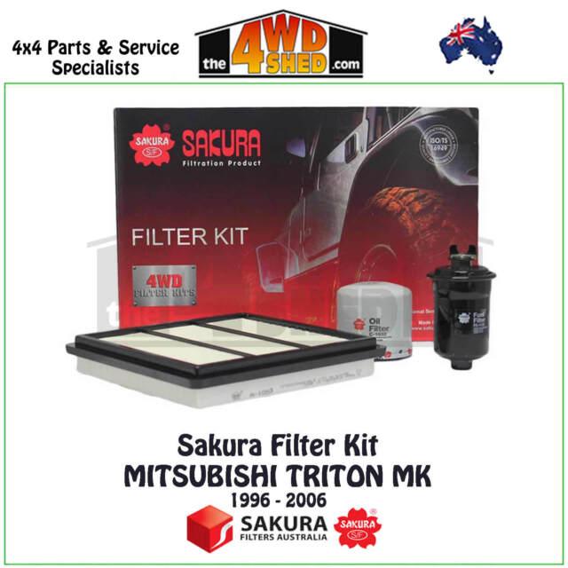 Sakura Filter Kit suit Mitsubishi Triton MK 3.0l PET 1996 - 2006