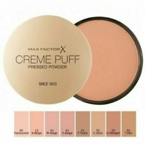 Max-Factor-Creme-Puff-Pressed-Face-Powder-Compact-Choose-Your-Shade