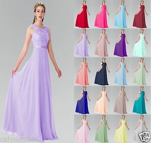 Long-Formal-Chiffon-Lace-Evening-Ball-Gown-Party-Prom-Bridesmaid-Dress-Size-6-20