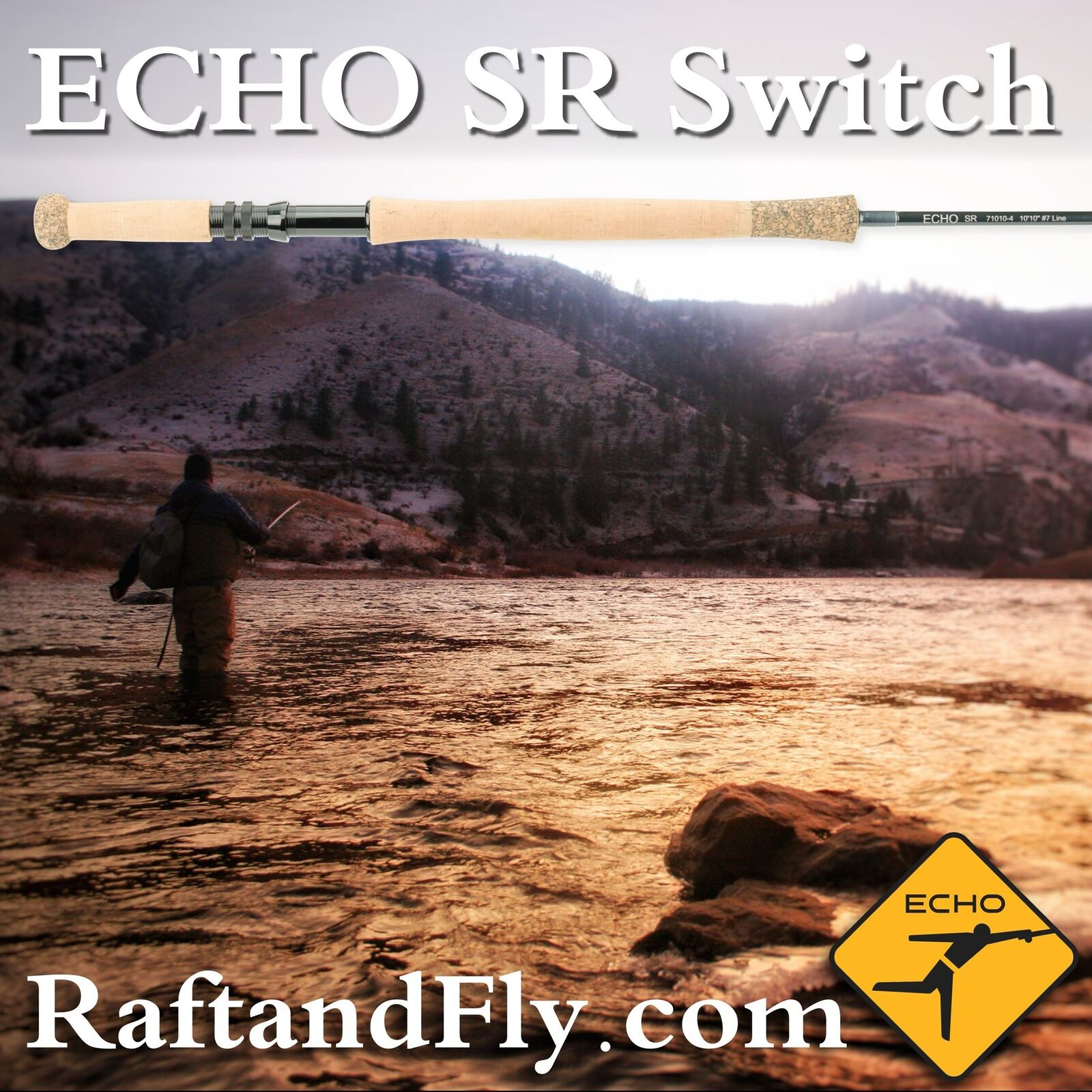 Echo SR 6wt Switch Rod  Lifetime Warranty  FREE SHIPPING