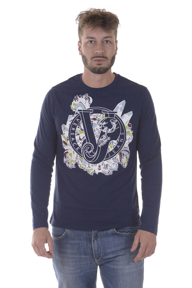 Versace Jeans T hemd schweißhemd SLIM Man Blaus B3GPA768 231 Sz. L PUT OFFER