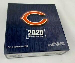 Turner-Licensing-2020-Chicago-Bears-Daily-Boxed-Desk-Calendar-with-Built-In