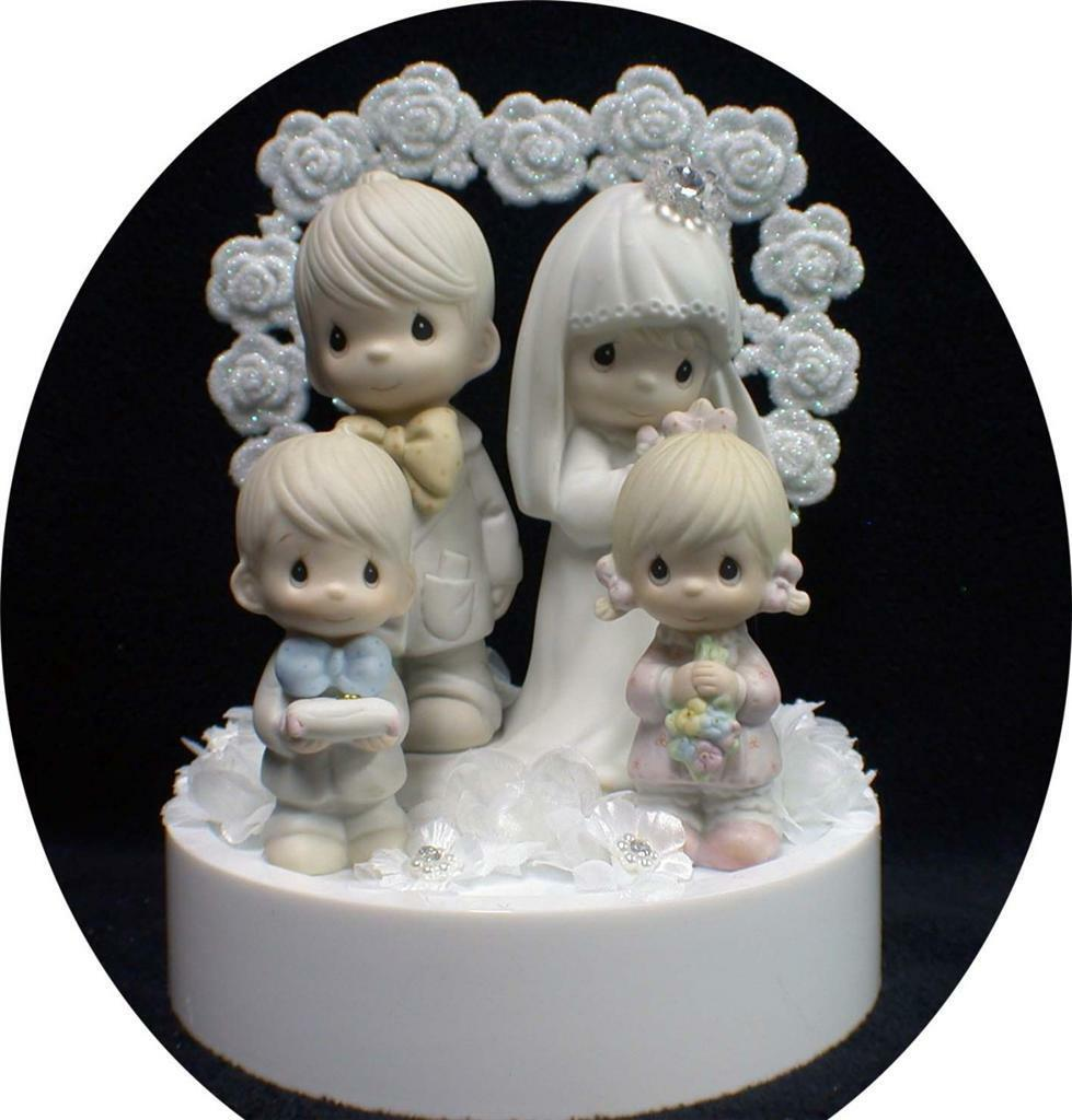 Wedding Cake topper Precious Moments Family Mariée Marié Fils Fille Enfant Fille