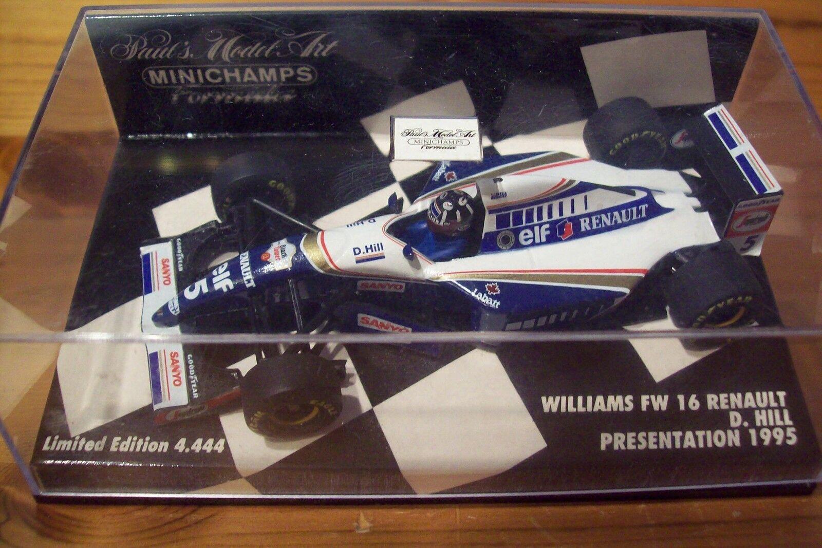 1 43 WILLIAMS WILLIAMS WILLIAMS 1995 PRESENTATION RENAULT FW16 DAMON HILL 487e20