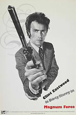 REPRO AFFICHE CLINT EASTWOOD MAGNUM FORCE  DIRTY HARRY BFK RIVES 310GRS